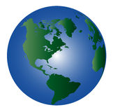 Globe - North And South America Stock Photography