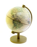 The globe, North atlantic ocean and America past. On white background stock photos