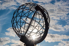 Globe at the North Cape Royalty Free Stock Photos