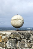 Globe, by the ocean of Norway Royalty Free Stock Image