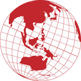 Globe_with_Oceania Stock Images
