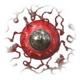 Globe oculaire d'isolement illustration de vecteur
