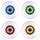 Globe oculaire de couleur Photo libre de droits