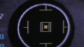 Globe oculaire de examen automatisé moderne de machine Essai d'examen d'oeil sur un écran professionnel de matériel médical banque de vidéos