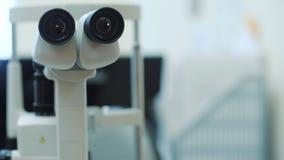 Globe oculaire de examen de machine médicale banque de vidéos