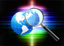 Globe On Abstract Spectrum Background Stock Photography