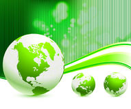 Globe On Nautre Green Background Royalty Free Stock Photo