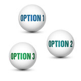 Globe options Royalty Free Stock Photography