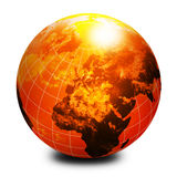 Globe orange du monde Image libre de droits