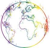 Globe outline. Illustration of globe outline design isolated on white background royalty free illustration