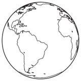 Globe outline icon Royalty Free Stock Photos