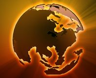 globe Pacifique de l'Asie Photos libres de droits