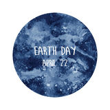 Globe painted with watercolor in earth day Stock Image