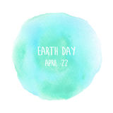 Globe painted with watercolor in earth day Royalty Free Stock Images