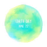 Globe painted with watercolor in earth day Royalty Free Stock Photos