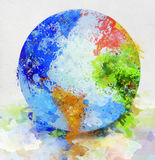 Globe Painting Stock Image