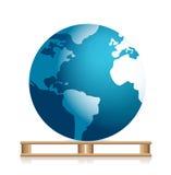 Globe on a pallet Stock Image