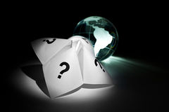 Globe and Paper Fortune Teller Stock Images