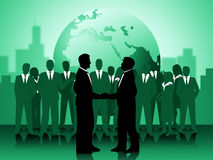 Globe Partnership Means Working Together And Earth Royalty Free Stock Images