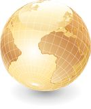 Globe pearl africa Royalty Free Stock Images
