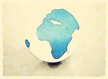 Globe peint du monde Photographie stock