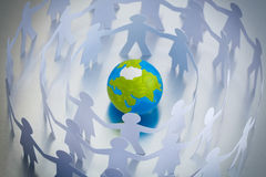 Globe and people Royalty Free Stock Images