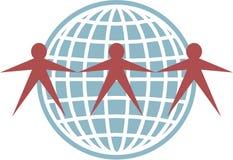 Globe people stock illustration