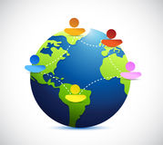 Globe people network communication illustration Stock Photo