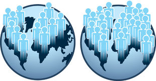 Globe and people Stock Photography