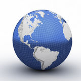 Globe perspective with grid Stock Image