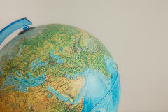 Globe with physical map on it Stock Image