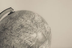 Globe with physical map on it  vintage effect Royalty Free Stock Photos