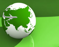 Globe and Plane 002 stock images