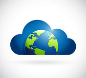 Globe planet and cloud illustration design Royalty Free Stock Photo