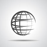 Globe planet icon Stock Photography
