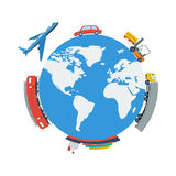 Globe Planet Logistic Concept Stock Image
