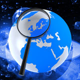 Globe Planets Means Solar System And Globalise Royalty Free Stock Photo