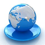 Globe on a platter Stock Images