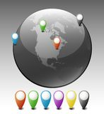 Globe with Pointers Royalty Free Stock Image