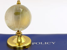 Globe & Policy Stock Photo