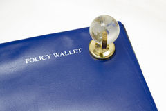 Globe & Policy Wallet Stock Photos