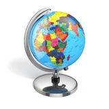 Globe with political map on white  background. Stock Photography