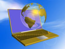 Globe and portable Stock Photography
