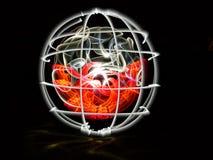 Globe posé Images libres de droits