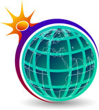 Globe power logo Stock Photography