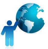 Globe presentation illustration icon design Stock Photo