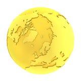 globe pur d'or de la terre 3D d'or illustration de vecteur
