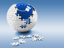 Globe puzzle. Quality 3d render Royalty Free Stock Photos