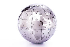 Globe puzzle Royalty Free Stock Photo