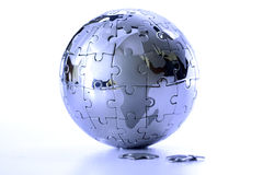 Globe puzzle Stock Photography